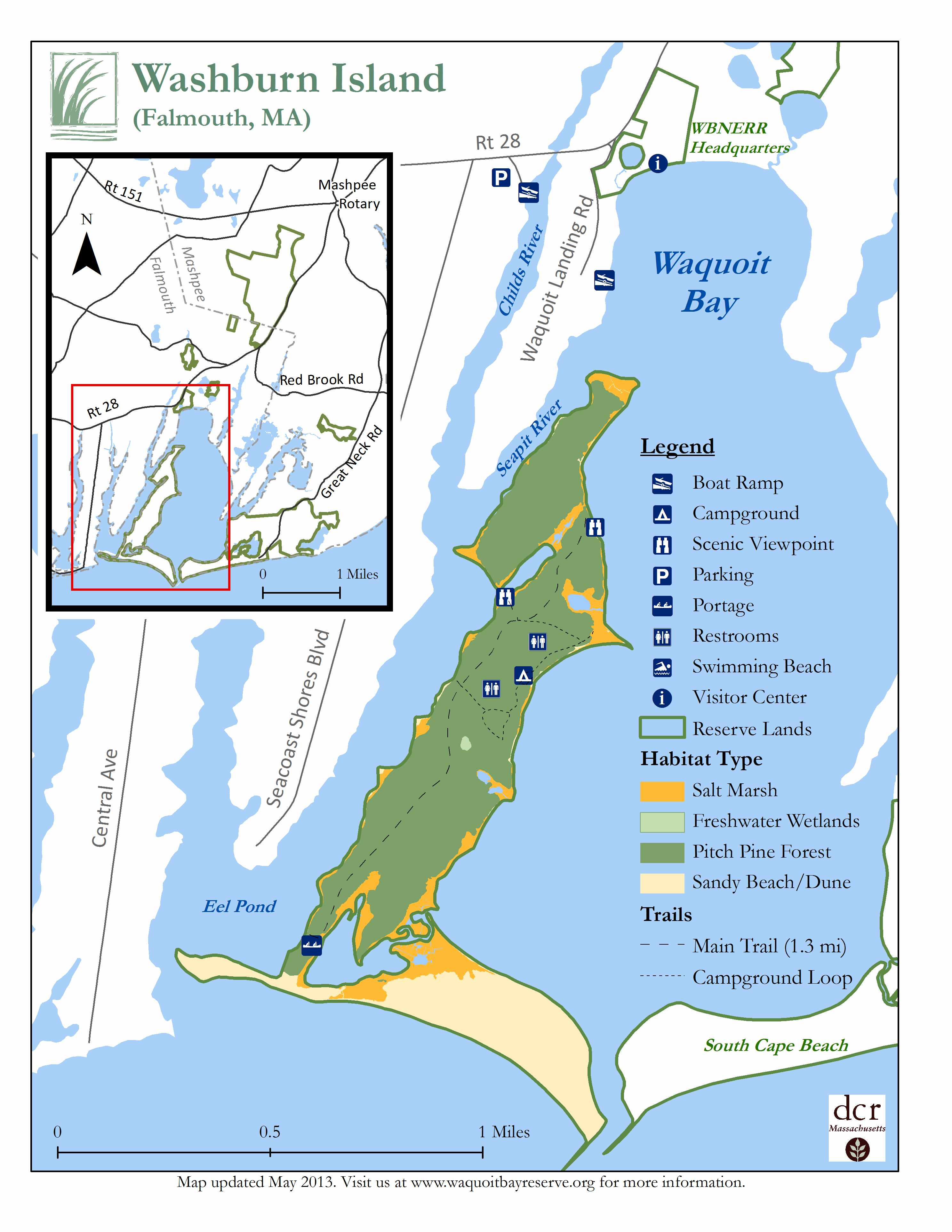 Hiking And Biking Trails Cape Cod Online - Us map cape cod